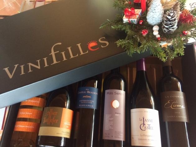 Coffret solidaire des Vinifilles pour le Mas Thélème - grêle août 2016 - Noël 2016 - Trinquefougasse