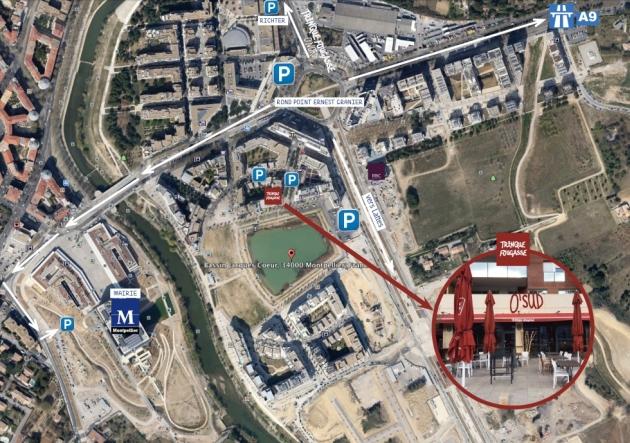 Comment venir chez Trinque Fougasse O'Sud - Plan - Montpellier