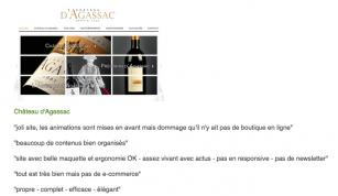 Concours e-VITI - Qui tient le meilleur site Internet de vigneron ? - Château d'Argassac