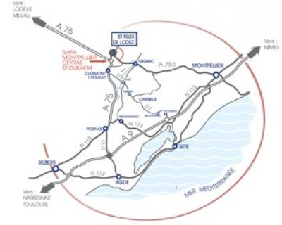 Domaine du Dausso - situation géographique