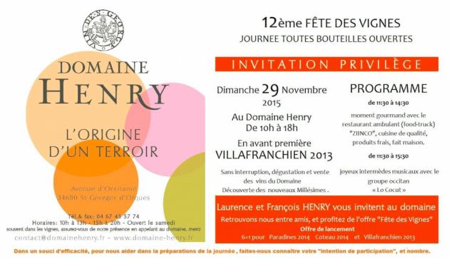 Domaine Henry - 29 novembre 2015