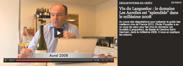 Domaine les Aurelles - Aurel Blanc 2008 par Olivier POUSSIER - 25 oct. 2012