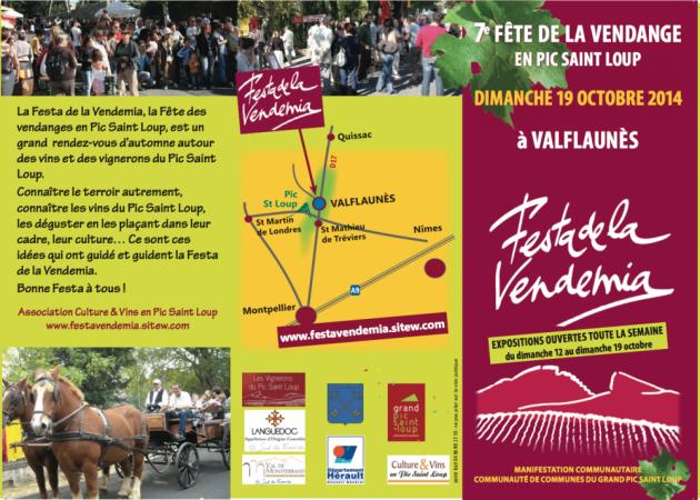 Festa de la Vendemia - Pic Saint Loup - du 12 au 19 octobre 2014