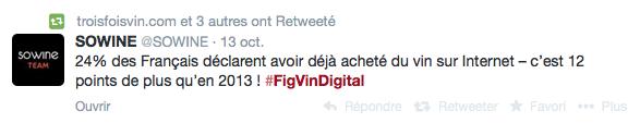 #FigVinDigital - conférence - Le Figaro Vin - SOWINE - 13 octobre 2014