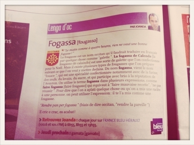 Fougasse - La Gazette 11 avril 2013