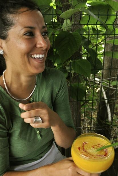 Gaspacho sucré-salé de melon - équipe Lila