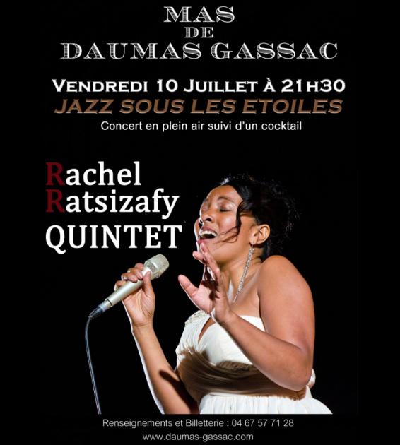 Jazz sous les étoiles au Mas de Daumas Gassac - Rachel Ratsizafy - 10 juillet 2015
