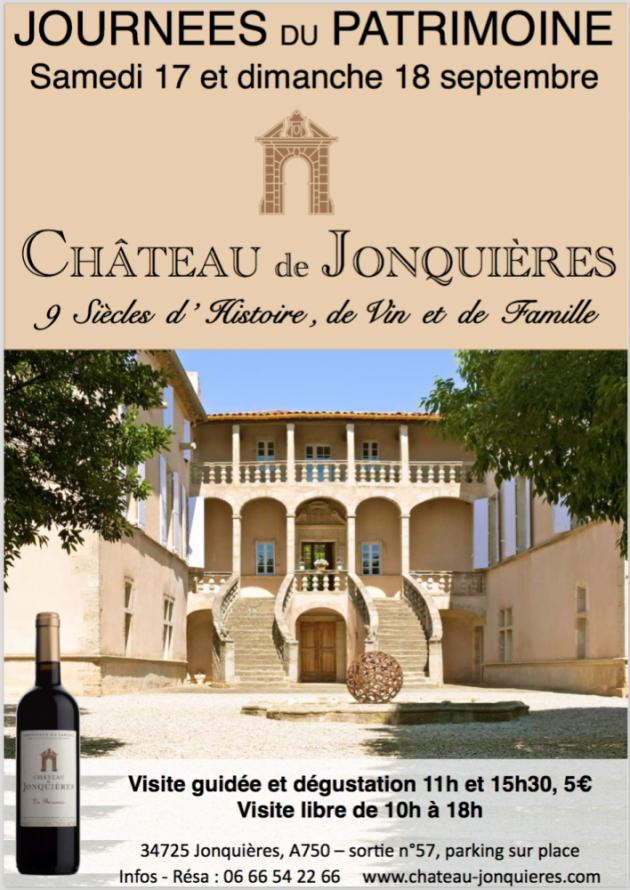 Journées du Patrimoine 2016 au Château de Jonquières - 17 & 17 septembre