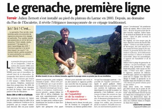 Julien Zernott - Pas de l'Escalette - Midi Libre juillet 2016