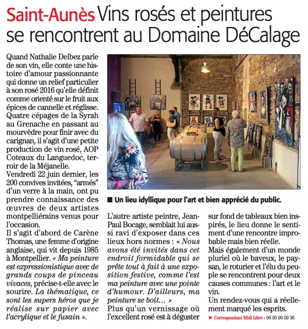 Karen Thomas et JP Bocaj chez Décalage en juin 2017 - blog trinquefougasse - Midi Libre