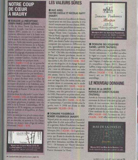 La Préceptorie - Joseph Parcé - La RVF - 2013