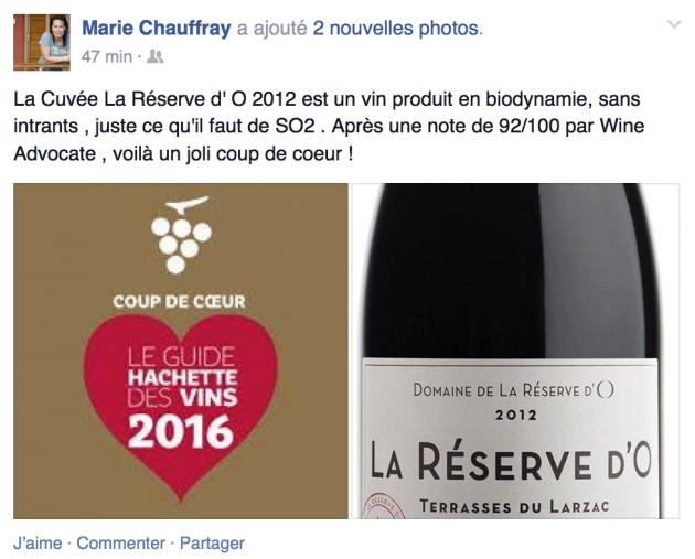 La Réserve d'O - Coup de coeur Hachette 2016