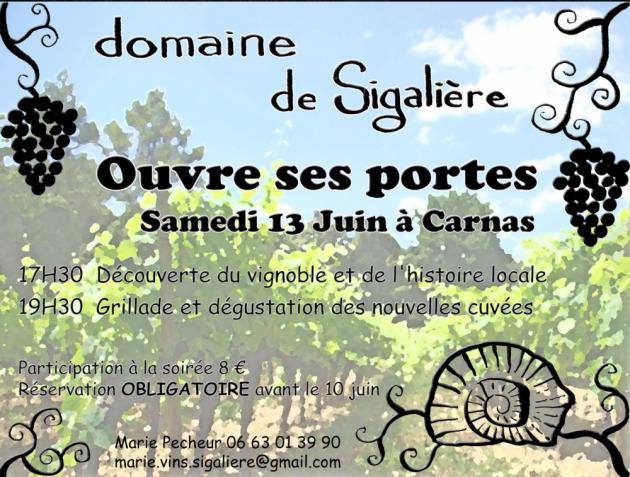 La Sigalière ouvre ses portes le 13 juin à Carnas