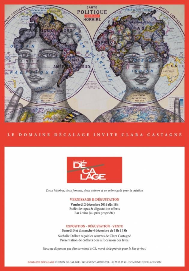 Le Domaine Décalage invite Clara Castagné - 2, 3 et 4 décembre 2016 à la Méjanelle