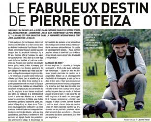 Le fabuleux destin de Pierre Oteiza - journal La Semaine du Pays Basque - octobre 2012