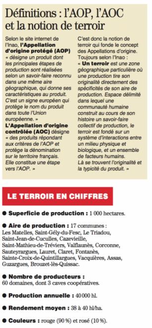 Le Pic Saint Loup reconnu en AOC - 10 septembre 2016 - Midi Libre