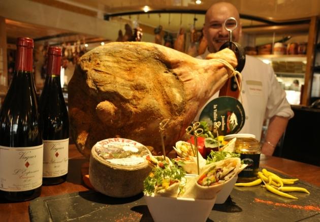 Les wraps d'Eric Massat mai 2012 Tomme de brebis Jambon des Aldudes Pierre Oteiza Domaine Vaquer