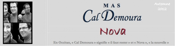 Mas Cal de Moura - NOVA - actualités oct. 2012