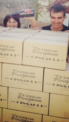 Mas de Figuier - Mise en bouteille cuvée Cinsault Trinquefougasse - Pagès Gilles et Sylvie - Mathieu Boudet - Olivier Consuegra -Octobre 2013