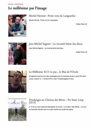 Millésime Languedoc - 2013 - 320 jours de soleil comme nulle part ailleurs - vidéo - WINE LR - TRINQUEFOUGASSE