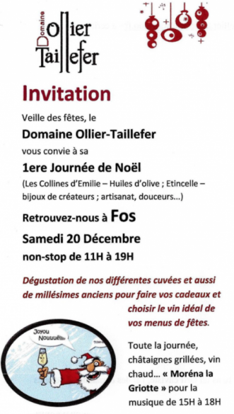 Noël avant l'heure au Domaine Ollier-Taillefer - 20 décembre 2014