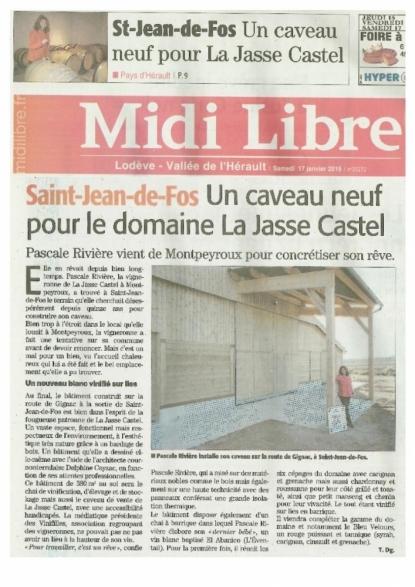 Nouvelle Cave pour la Jasse Castel - janvier 2015 - Pascale Rivière par Patricia Huczek © (c)Patricia HUCZEK