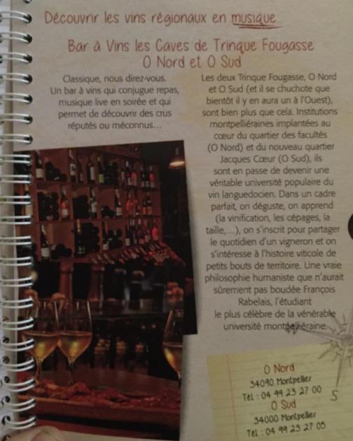Oenotourisme en Languedoc - Dossier de Presse 2015 - Trinque Fougasse dans le Guide 2015