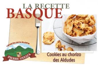 oteiza - recette - cookies au chorizo des Aldudes