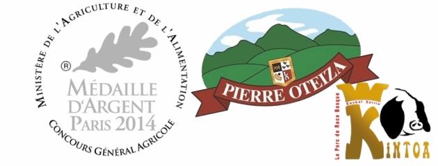 Pierre Oteiza - Médailles bronze et argent - Concours Général Agricole 2014 - Kintoa - Jésus