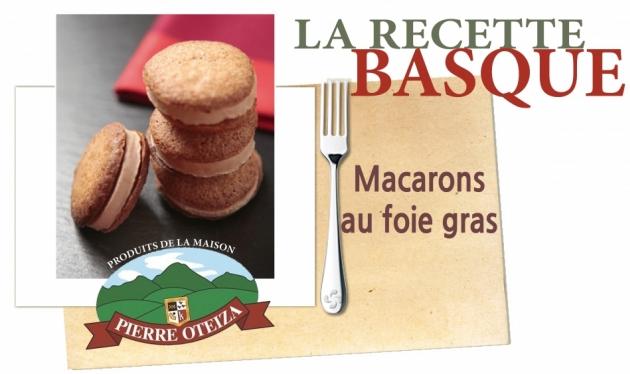 Pierre Oteiza - Recette - Macarons foie gras