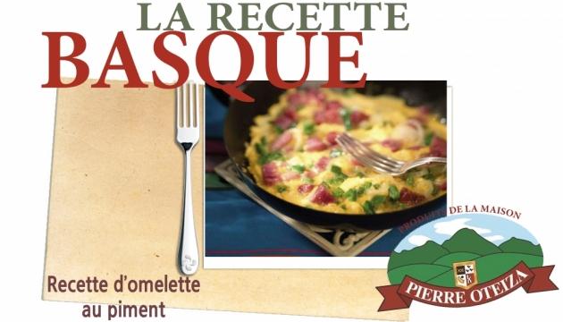 Pierre Oteiza - Recette - omelette au piment
