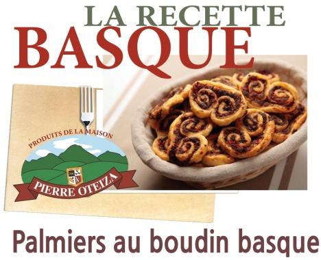 Pierre Oteiza - Recette - Palmiers au boudin Basque