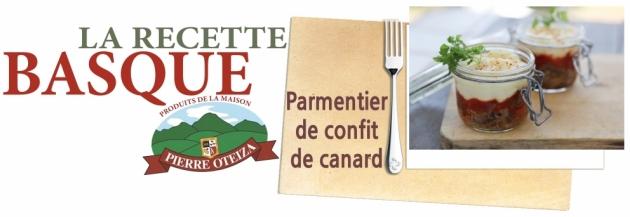 Pierre Oteiza - Recette - Parmentier de confit de canard