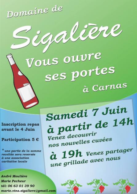 Portes ouverte au Domaine de Sigalière - 7 juin 2014