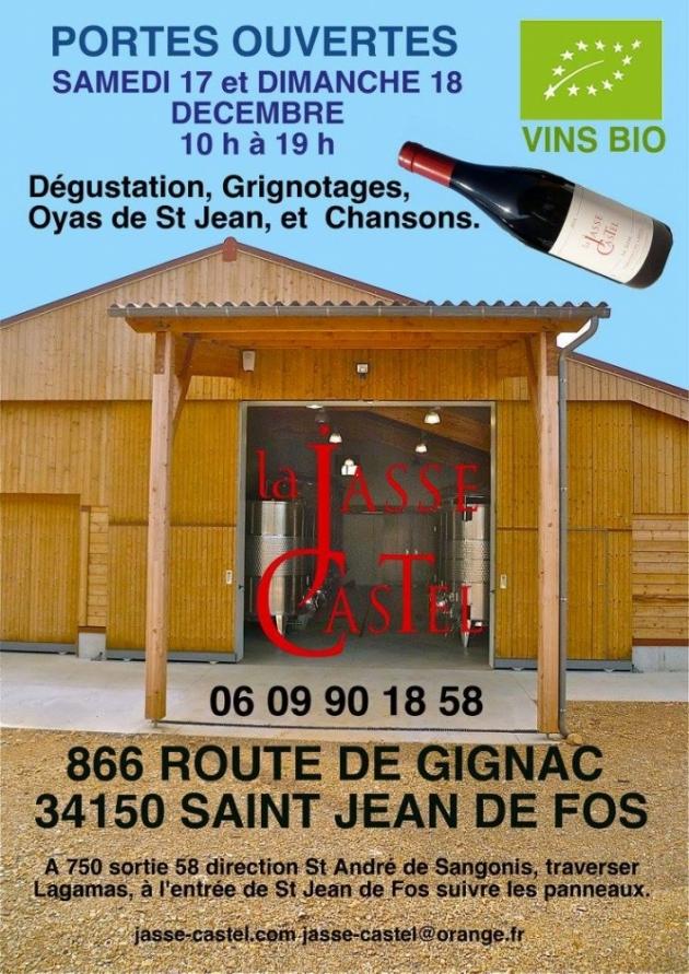 Portes ouvertes à la Jasse Castel les 17 et 18 décembre 2016 - blog Trinque Fougasse