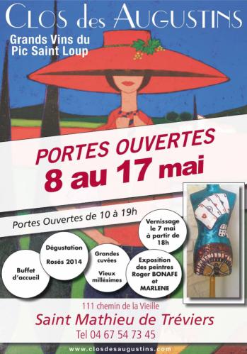 Portes ouvertes au Clos des Augustins - du 8 au 17 mai 2015