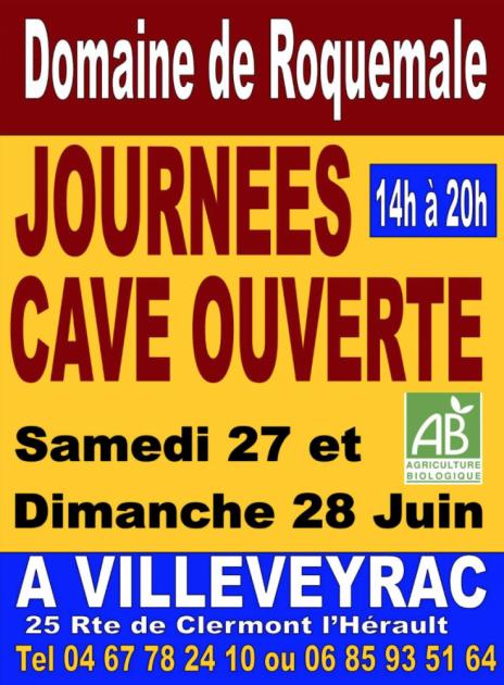 Portes Ouvertes au Domaine de Roquemale - 27 et 28 juin 2015