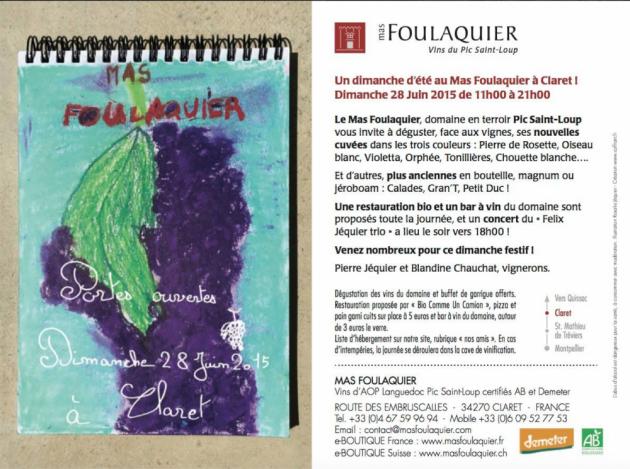 Portes ouvertes au Mas Foulaquier - 28 juin 2015