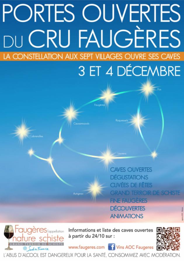 Portes ouvertes du Cru Faugères les 3 et 4 décembre 2016