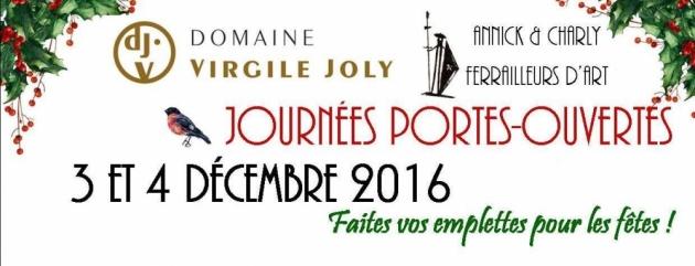 Portes ouvertes Virgile Joly les 3 & 4 décembre 2016