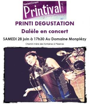 Printival Boby Lapointe au Domaine Monplézy avec Dalele le 28 juin 2014 à Pézenas