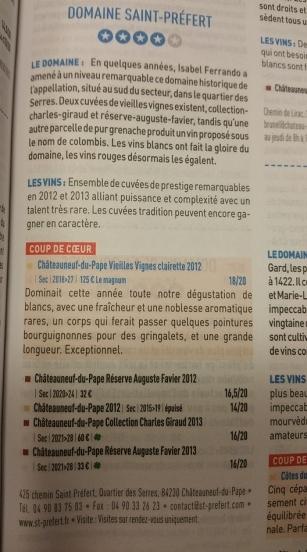 Quatre étoiles au guide Bettane & Desseauve pour Isabel Ferrando, St Préfert - Blog Trinque Fougasse