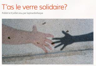 Sandrine Goeyvaerts -  T'as le verre solidaire ? - La Pinardotek - grêle 2014 - vignerons © http://lapinardotheque.wordpress.com/2014/07/08/tas-le-verre-solidaire/