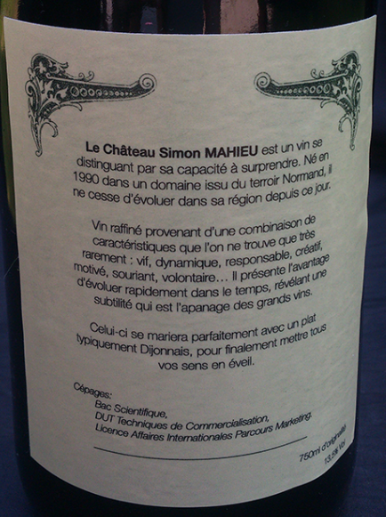 Simon Mahieu - CV à boire !