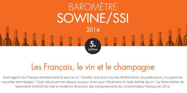 """SOWINE - Agence - Baromètre 2014 """"Les Français, le vin et le Champagne"""""""