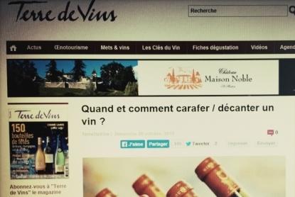 Terre de Vins novembre 2014 - Les Clés du Vin - Carafer