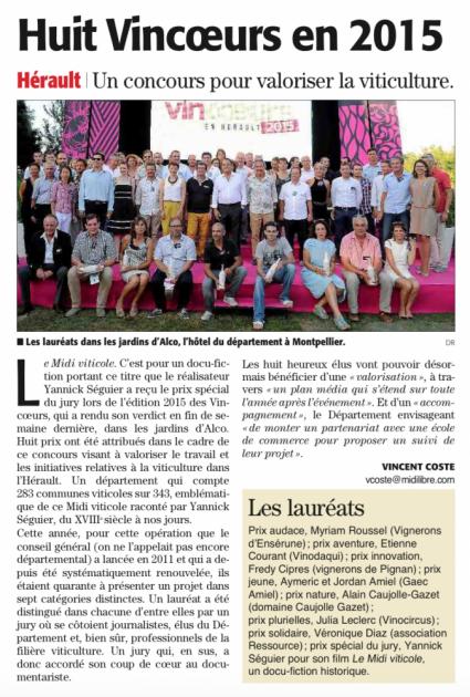 Vincoeurs Hérault 2015