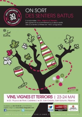 Vins, vignes et terroirs - randonnées de l'AOC LANGUEDOC - 23 et 24 mai 2015