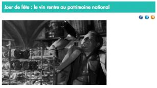 Vitisphère - Le vin au Patrimoine national - juillet 2014