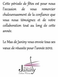 Voeux Janiny 2012